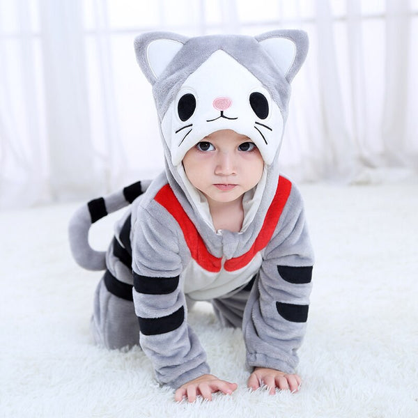 Baby Rompers Cartoon Animal Cheese Cat