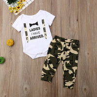 Boys Costumes Set Letter Rompers + Camo Pants Baby Boy Coming Home Outfit