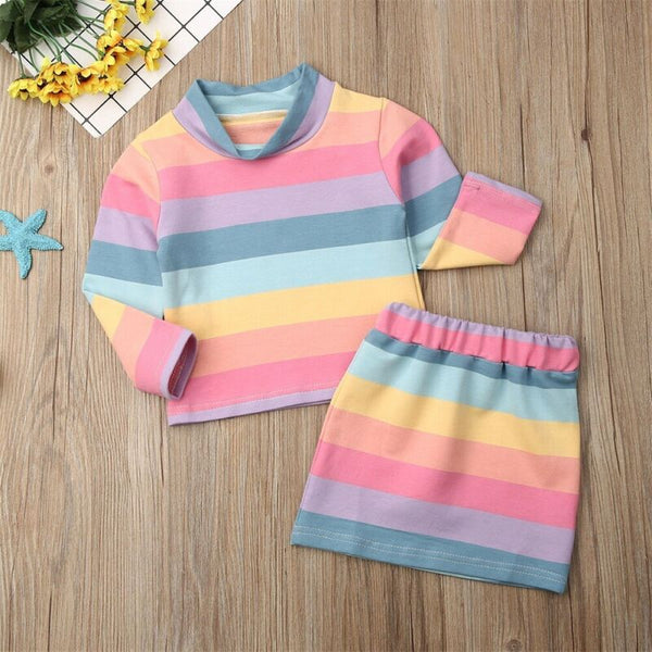 Toddler Kids Baby Girl Clothes T-shirt Tops and Skirt Outfit Girls Dresses