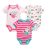 Baby Rompers Baby Bodysuit Newborn Boy Girl Clothing 100%Cotton 3PCS/LOT