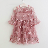 White Dresses For Girls Lace Flower Dress Baby Girl