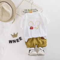 Baby Boy Summer Clothes Set Clothing Cotton Infantil Clothes Cartoon Print Costume For Kids