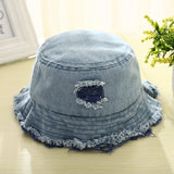 Kids Bucket Hats With Holes Cowboy Baby Boys Summer Hat Baby Girls Sun Cap Fashion Sun Prevent Kids Hats