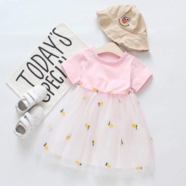 1st Birthday Outfit Girl Autumn Dress Cotton American Princess Dresses