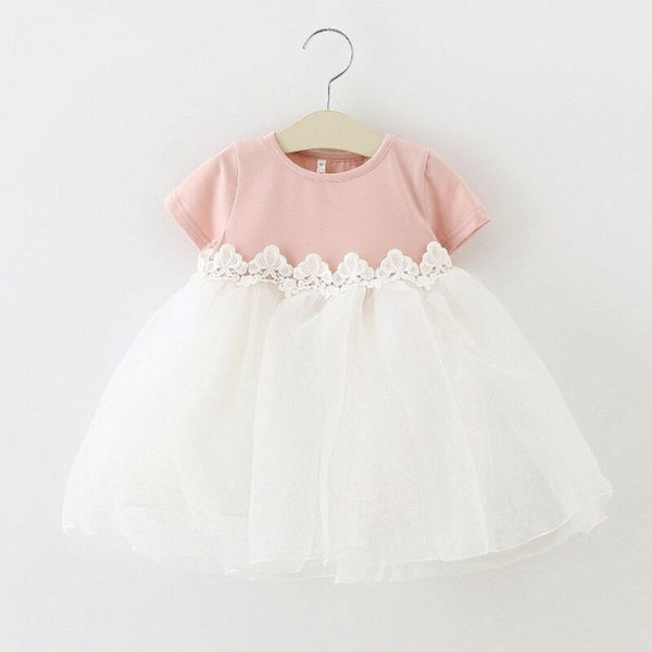 Baby Girl Dress Party Birthday Dress Lace Floral Baptism Dresses