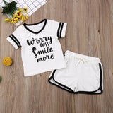 Baby Boy Coming Home Outfit Set T-shirt + Shorts Outfits Summer