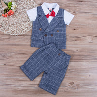 First Birthday Outfit Boy Set Shirt Tops+Pants Gentleman Baby Boy Coming Home Outfit