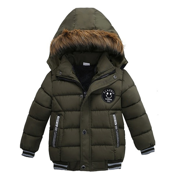 Boys Winter Coats 1-5 Years Boys Coat Casual Autumn Hooded Thick Outerwear Coat For Boys Children