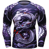 Men 3D printed American t shirts Dragon MMA marvel compression top Cross Fit shirts gyms