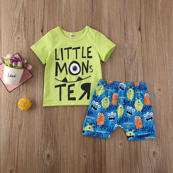 Baby Boy Going Home Outfit Short Sleeve T-shirt +Shorts Summer Baby Boy Costumes