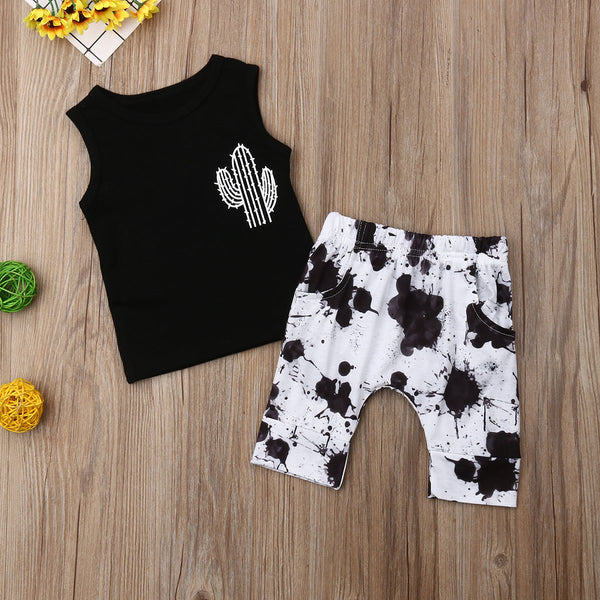 Boys Costumes Set Summer T-shirt + Pants Baby Boy Coming Home Outfit