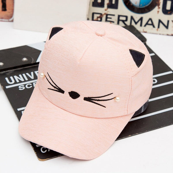 Baby Girl Hats Cute Cat Ear Spring Summer Cotton Baseball Cap
