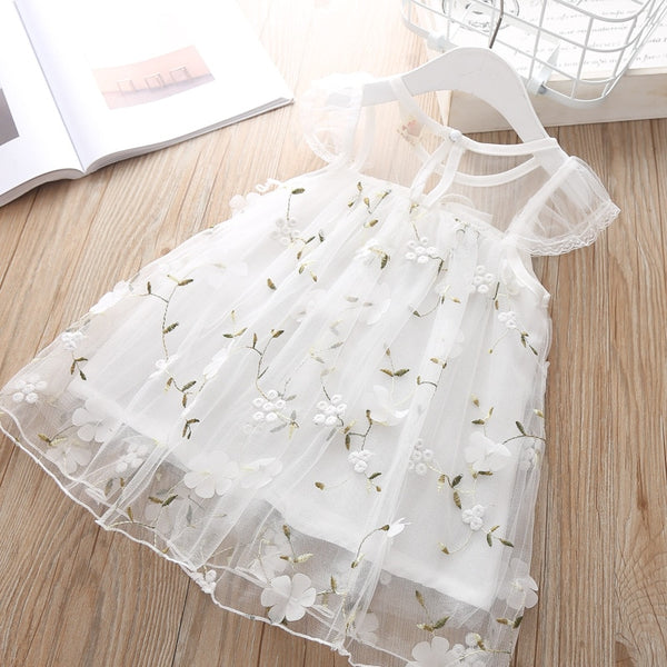 Newborn Dresses for Girl Summer Party Wedding White Dress Baby Girls Lace Christening Dress For Baby