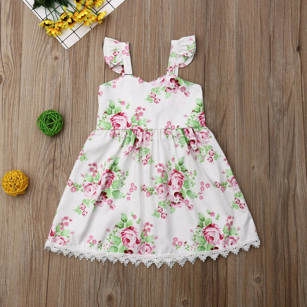 Birthday Outfits For Girls Pageant Floral Casual Princess Dress For Kids
