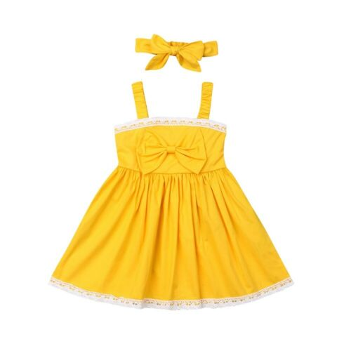 First Birthday Outfit Sleeveless Party Pageant Dress Summer Princess Dress For Kids