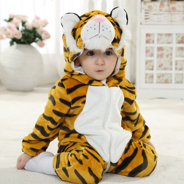 Baby Rompers Cartoon Animal Tiger