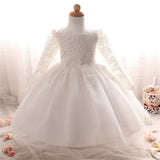 Baby Girl Baptism Dress Birthday Party Toddler Christening Gown Infant Girl Dress
