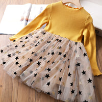 Winter Dresses For Girls Full Sleeve Knitted Sweater Pleated Dress