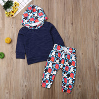 3M-3Y Toddler Newborn Baby Boy Girl Clothing Set Autumn Infant Baby Hooded Tops + Pants Baby Costumes