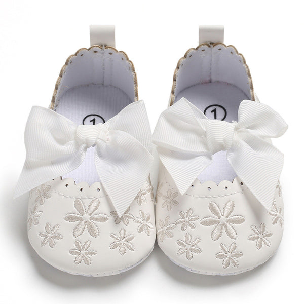 Baby First Walking Shoes Flower Printed Newborn Girl Shoes