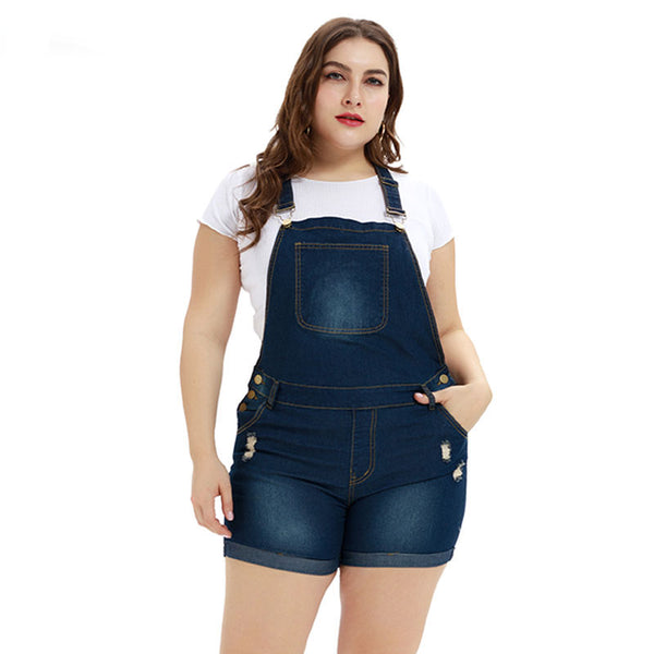 Plus Size Overalls Women Jumpsuit  Blue Jeans