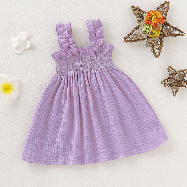 Cute Baby Outfits Cotton Slip Dress First Birthday Dress