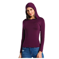 Long Sleeve Hooded T shirt For Women