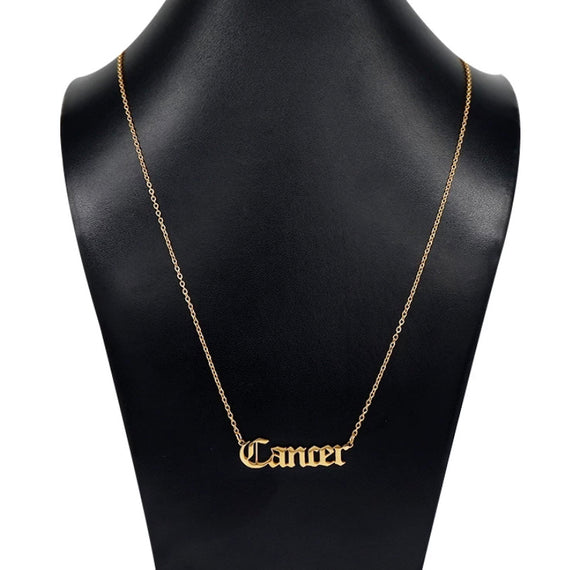 Zodiac Necklace (Gold)