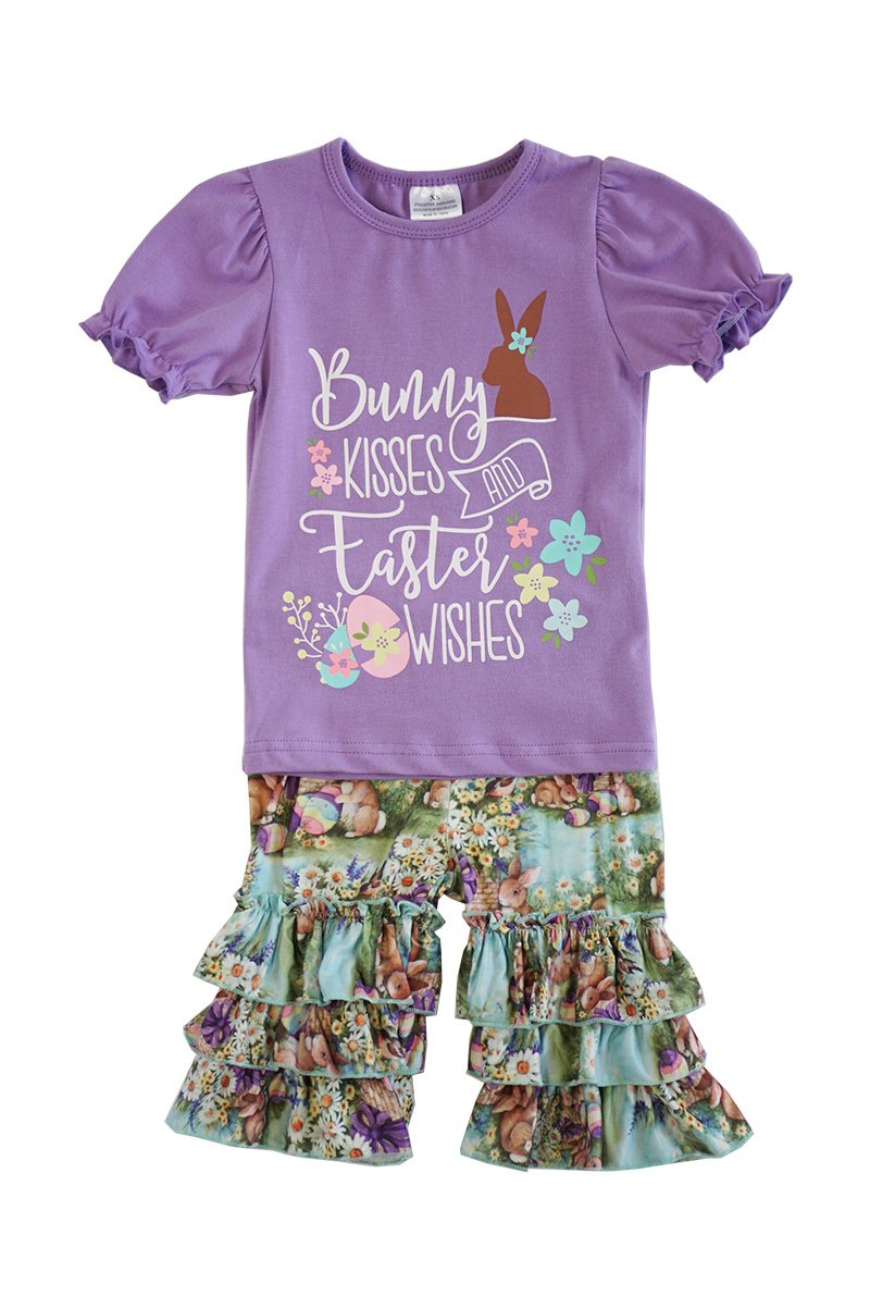Bunny kisses easter wishes capri set