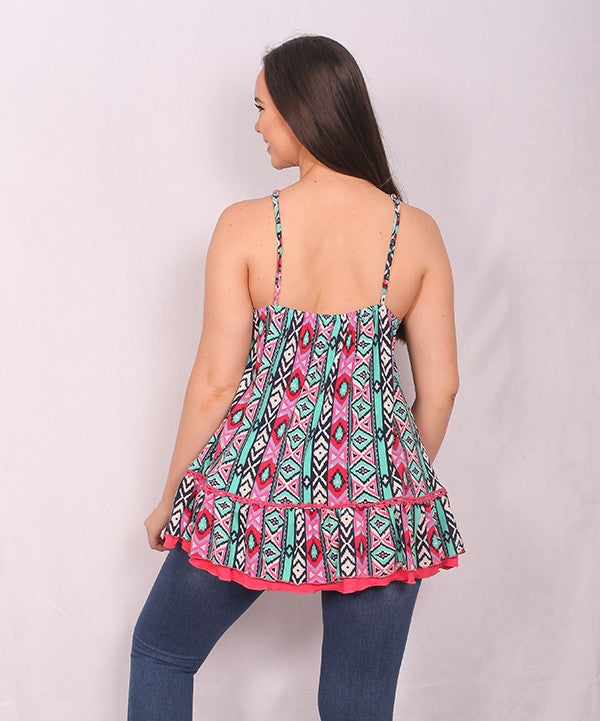 Aztec Printed Tank Top