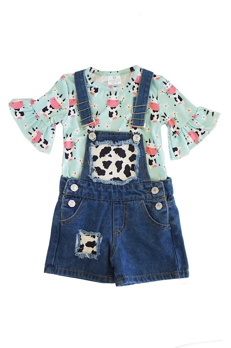 Floral Cow bell sleeve  2pcs set