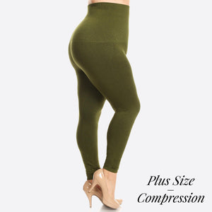 Open image in slideshow, Women's Plus size Compression Leggings