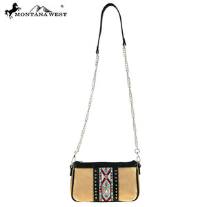 Open image in slideshow, Montana West | Aztec Collection Clutch/Crossbody