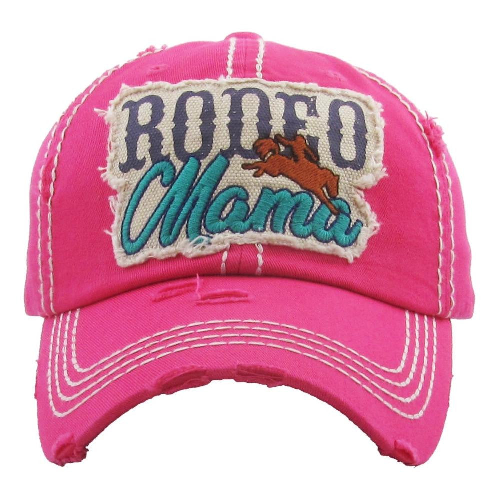RODEO MAMA DISTRESSED HAT