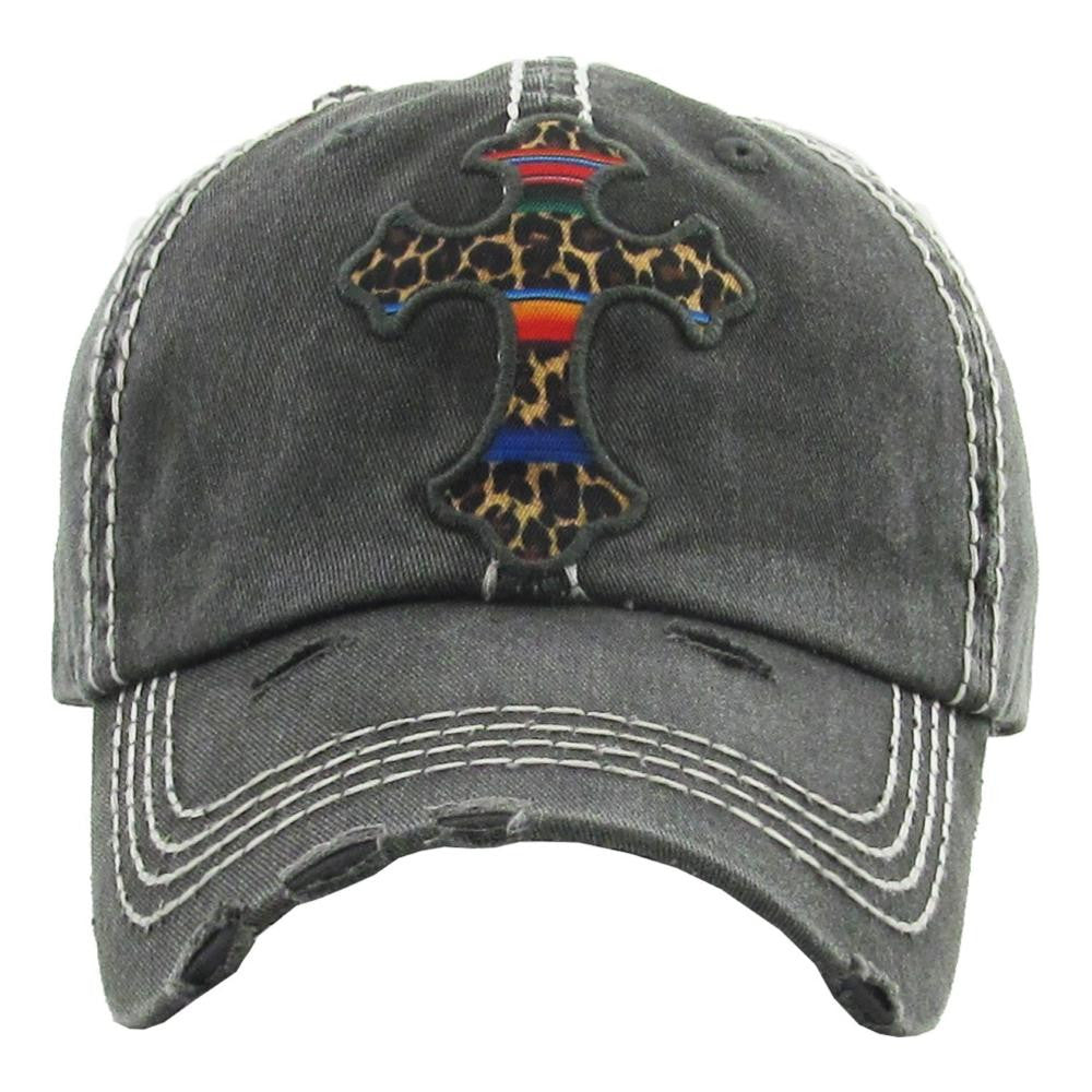 Cross Distressed Hat
