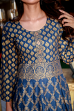 Teal Gold Leaf Kurta