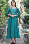 Sea Green Aari Embroidered Maxi