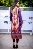 Purple Yellow Sirnak Linen Kurta