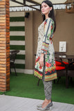 SALE Three Piece: Black Beige Aster Lawn Three Piece with Chiffon Scarf