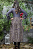 Grey Maroon Gold Rind Frock Dress