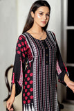 Black Linen Digital Sahiwal Kurta