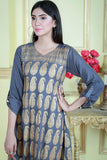 SALE Grey Gold Print Kurta