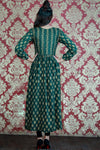 Bottle Green Sunset Linen Maxi