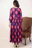 Purple Rose Linen Maxi
