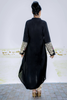 SALE Black Kurta with Zip Front & Embroidered Sleeves