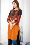Black Yellow Tabriz Cotton Kurta