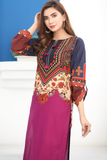 Purple Tabriz Cotton Kurta