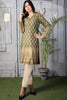 Two Piece: Green Gold Kurta with Self Embossed Scarf