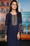 Navy Gold Aari Embroidered Kurta