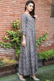 SALE Tiered Grey Printed Maxi